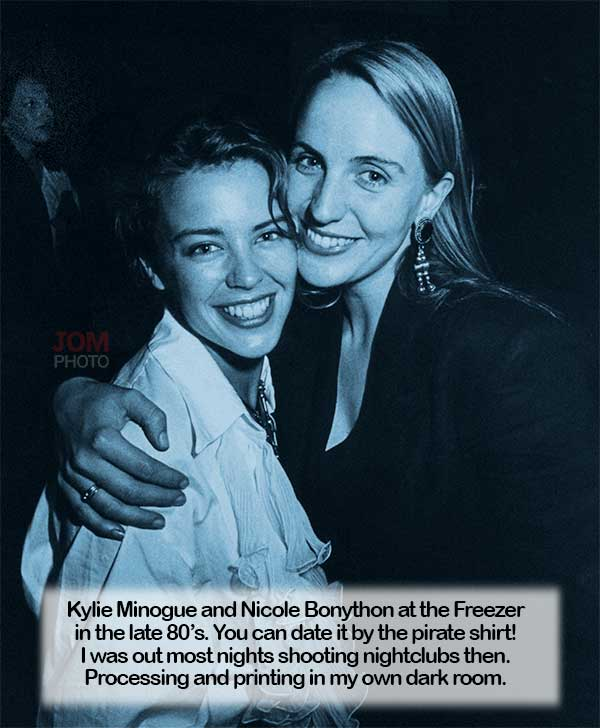 Kylie Minogue and Nicole Bonython at the Freezer in the late 80's.
