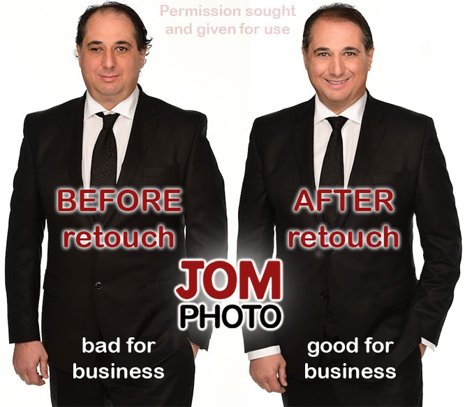 before and after retouch comparison